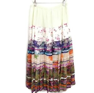 Sterling Styles Maxi Skirt One Size Boho Peasant